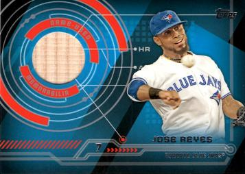 Jose Reyes Game Used Bat Baseball Card