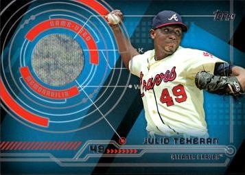 Julio Teheran Game Worn Jersey Baseball Card
