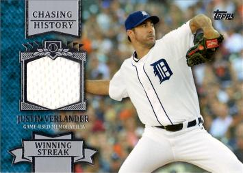 Justin Verlander Game Worn Jersey Card