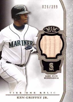 Ken Griffey Jr. Game Used Bat Card
