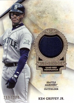 Ken Griffey Jr. Game Worn Jersey Card