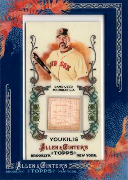 Kevin Youkilis Game Used Bat Card