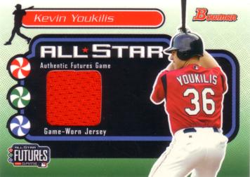 Kevin Youkilis Game Worn Jersey Card
