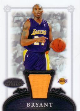 Kobe Bryant Game Worn Jersey Card