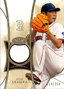 2014 Topps Tier One Relics Koji Uehara Game Worn Jersey Baseball Card