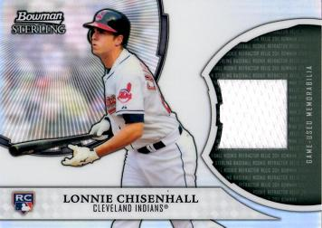 Lonnie Chisenhall Game Worn Jersey Card