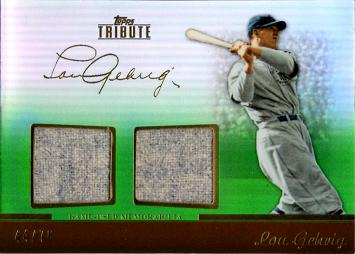 Lou Gehrig Game Worn Jersey Card