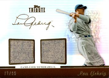 Lou Gehrig Game Worn Jersey Baseball Card