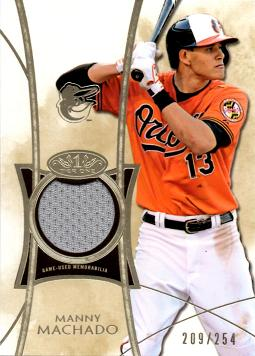 Manny Machado Game Worn Jersey Card
