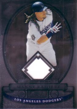 Manny Ramirez Dodgers Game Worn Jersey Card