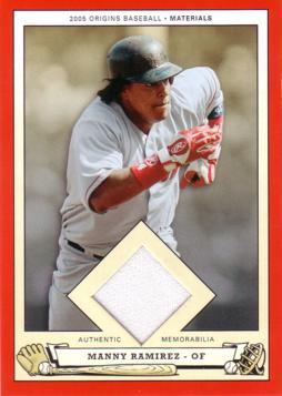 Manny Ramirez Red Sox Jersey Card