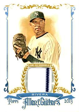 Mariano Rivera Game Worn Jersey Card