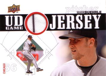 Mark Buehrle Game Worn Jersey Card