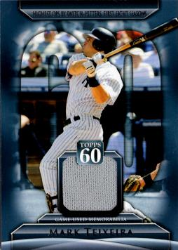 Mark Teixeira Game Worn Jersey Card
