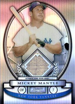 Mickey Mantle Game Worn Jersey Card