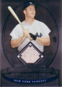 2008 Bowman Sterling Mickey Mantle Game Worn Jersey Baseball Card