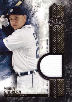 Miguel Cabrera Game Worn Jersey Card