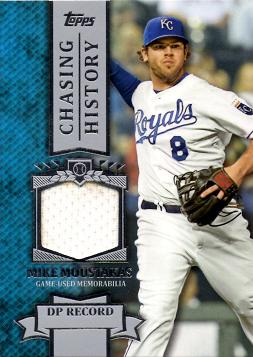 Mike Moustakas Game Worn Jersey Card