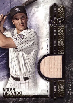 Nolan Arenado Game Used Bat Card
