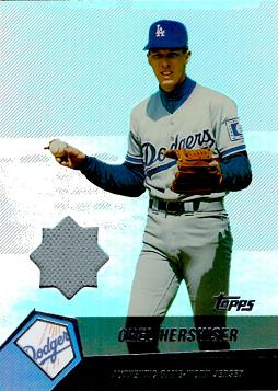 Orel Hershiser Game Worn Jersey Card