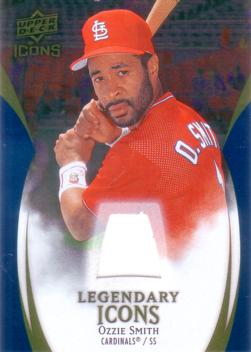 Ozzie Smith Game Worn Jersey Card