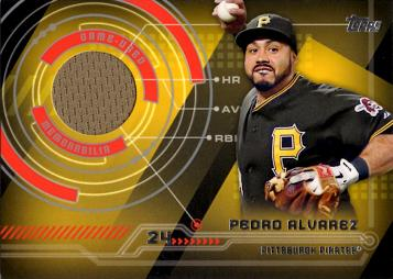 Pedro Alvarez Game Worn Jersey Baseball Card
