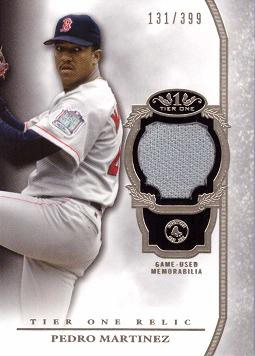 Pedro Martinez Game Worn Jersey Card