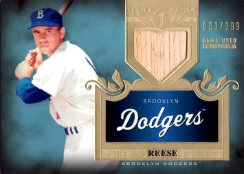 Pee Wee Reese Game Used Bat Card