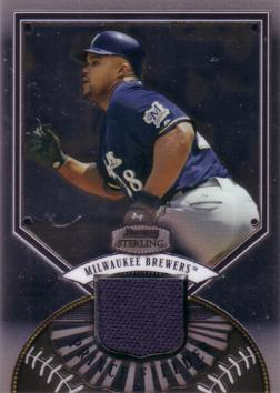 Prince Fielder Game Worn Jersey Card