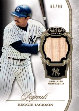 Reggie Jackson Game Used Bat Baseball Card