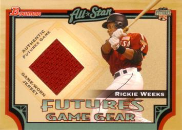 Rickie Weeks Game Worn Jersey Card