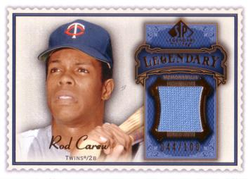 Rod Carew Game Worn Jersey Baseball Card