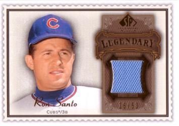 Ron Santo Game Worn Jersey Card