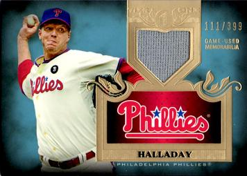 Roy Halladay Phillies Game Worn Jersey Card