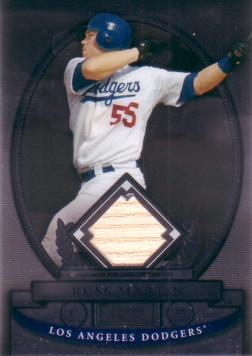 Russ Martin Game Used Bat Card