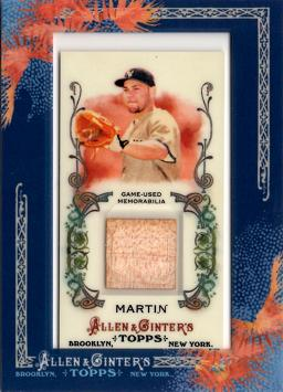 Russell Martin Game Used Bat Card