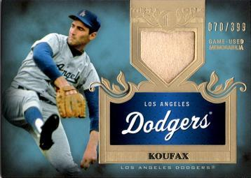 Sandy Koufax Game Worn Jersey Card