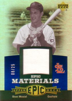 Stan Musial Game Worn Jersey Card