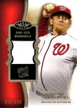 Stephen Strasburg Game Worn Jersey Baseball Card