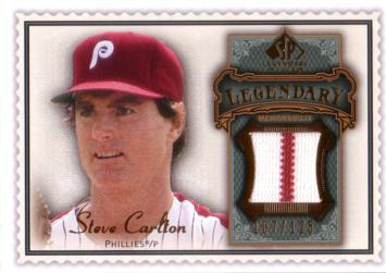 Steve Carlton Game Worn Jersey Baseball Card