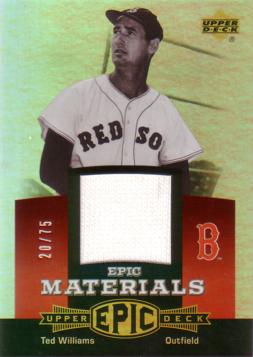 Ted Williams Game Worn Jersey Card