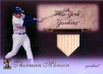 Thurman Munson Game Used Bat Card