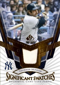 Thurman Munson Game Worn Jersey Card