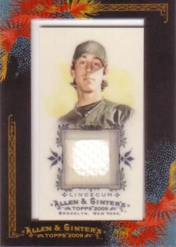 Tim Lincecum Game Worn Jersey Card