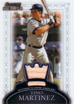 Tino Martinez Game Used Bat Card