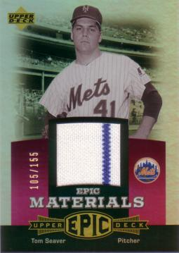 Tom Seaver Game Worn Jersey Card