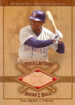 Tony Gwynn Game Used Bat Card