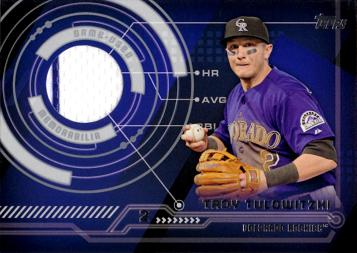 Troy Tulowitzki Game Worn Jersey Baseball Card
