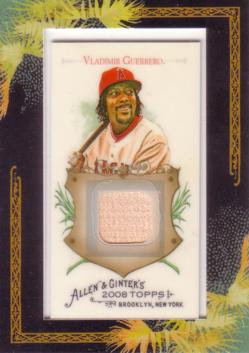 2008 Topps Allen & Ginter Relics Vladimir Guerrero Game Used Bat Baseball Card