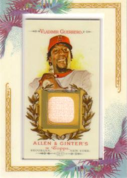 Vladimir Guerrero Game Used Bat Card